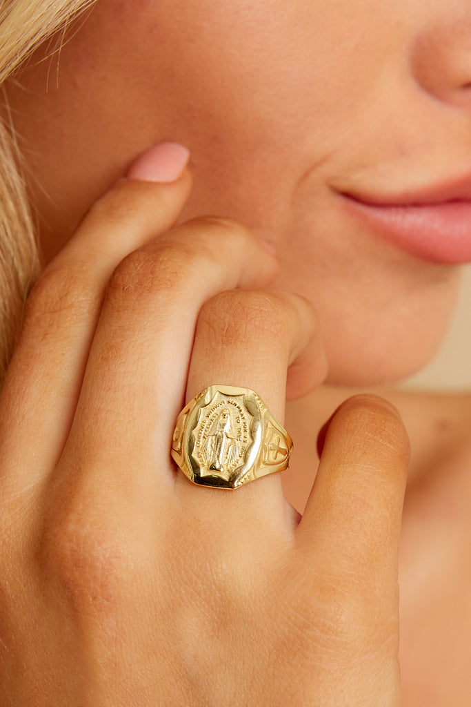 4 Isadora Gold Ring at reddressboutique.com
