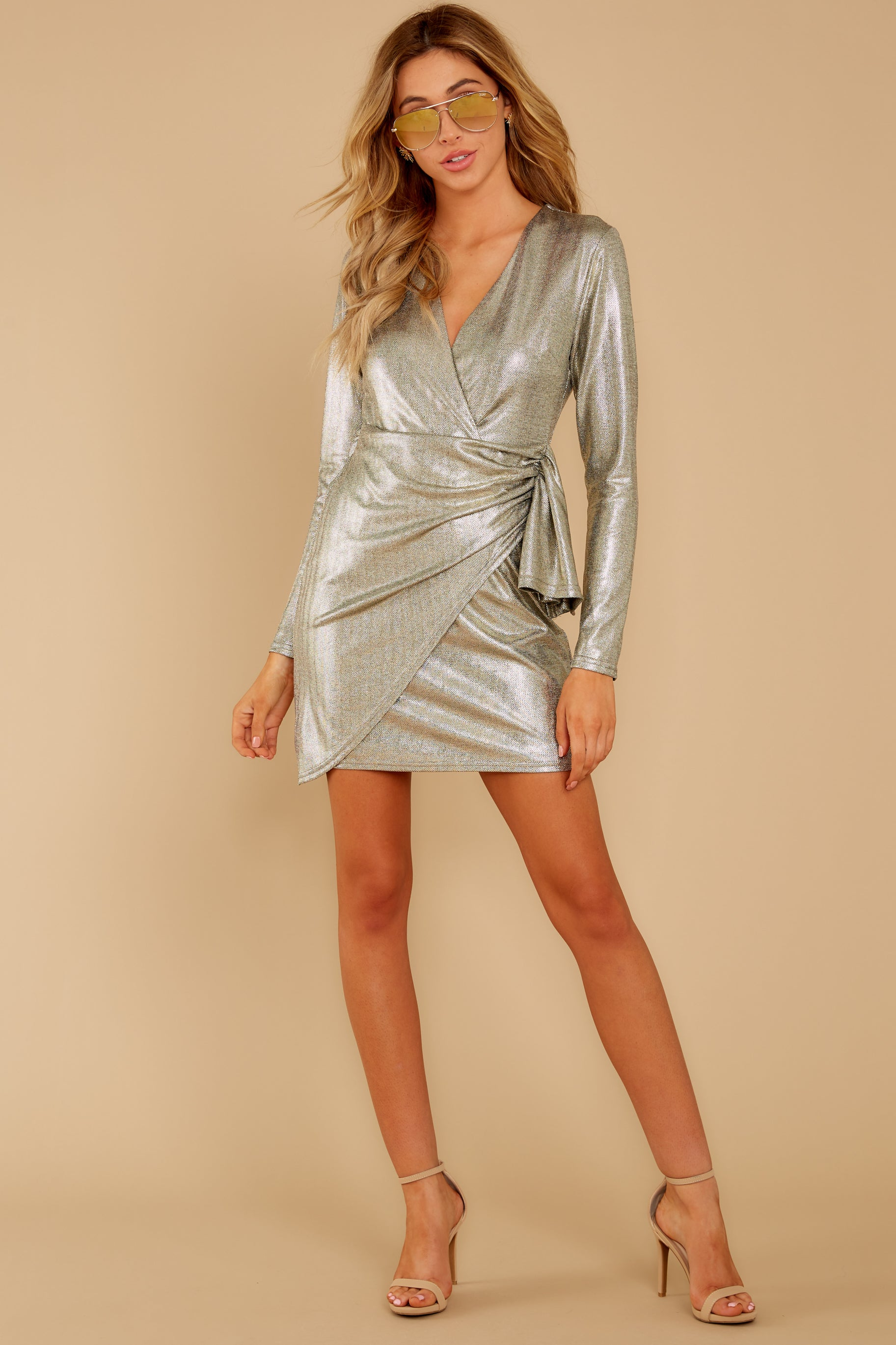 1 Pardon Me Gold Dress at reddressboutique.com