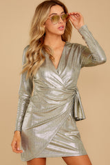 6 Pardon Me Gold Dress at reddressboutique.com