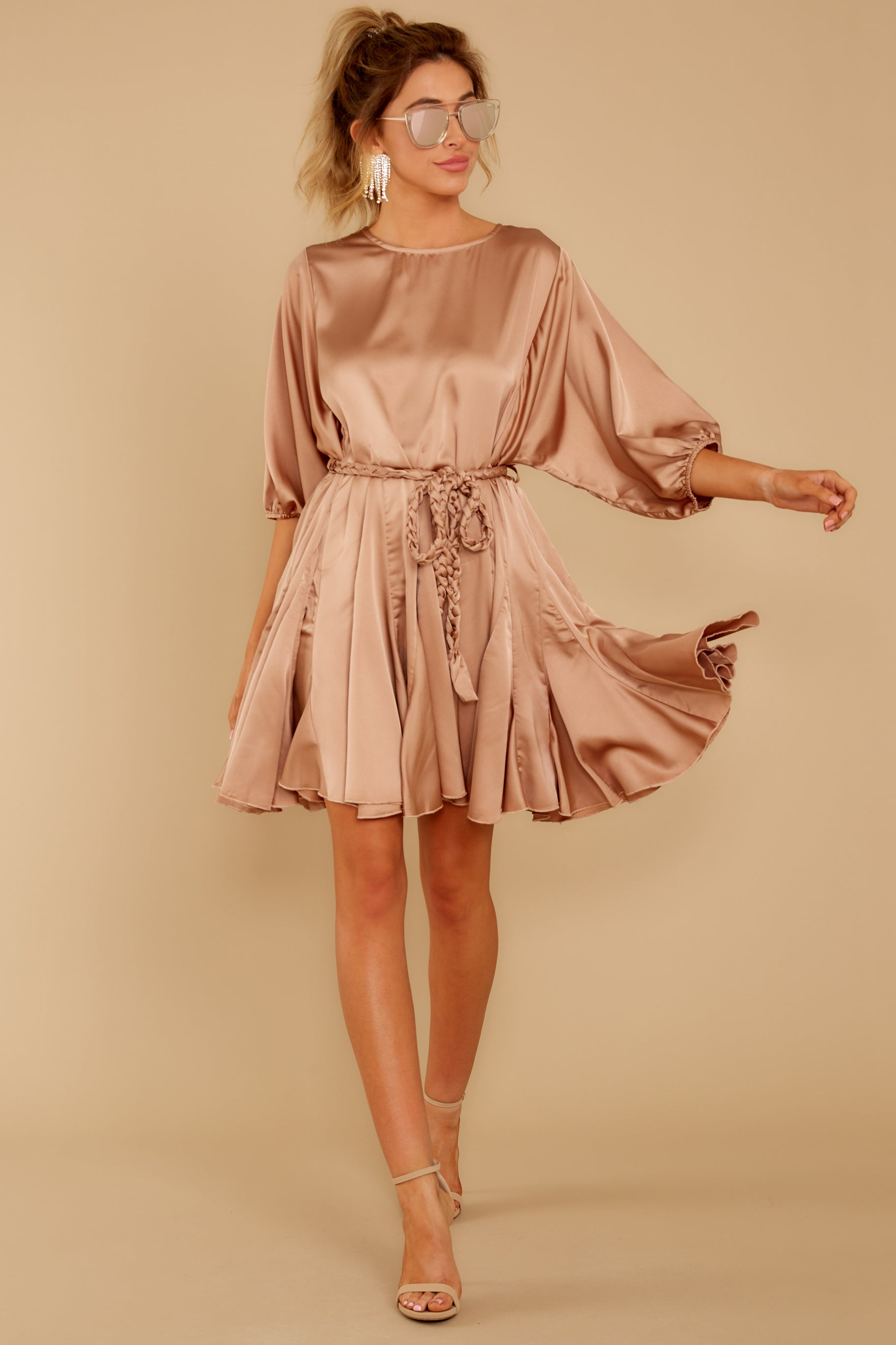 1 Kiss Goodnight Gold Champagne Dress at reddressboutique.com