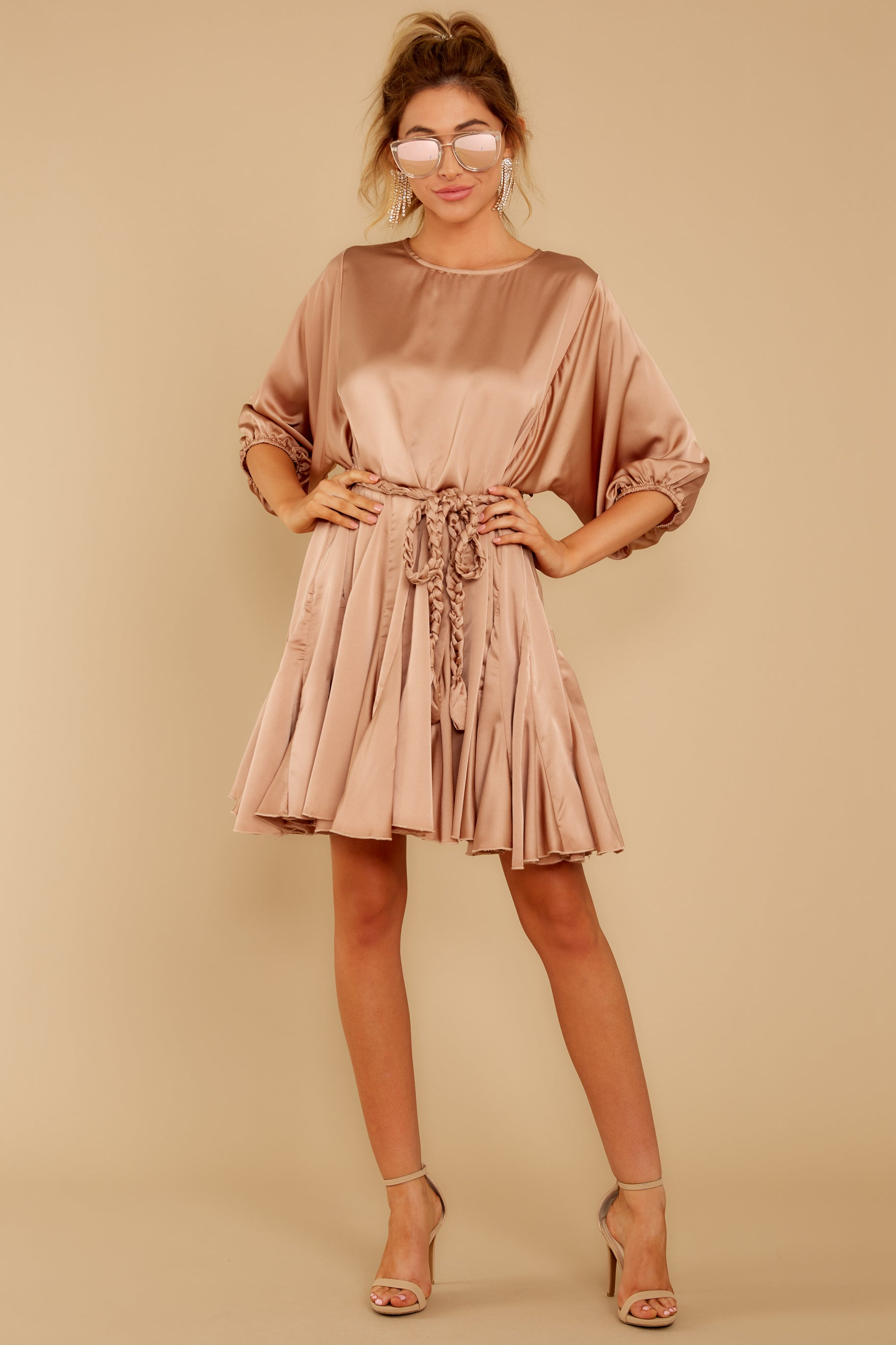 2 Kiss Goodnight Gold Champagne Dress at reddressboutique.com