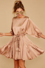 5 Kiss Goodnight Gold Champagne Dress at reddressboutique.com