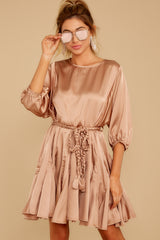 4 Kiss Goodnight Gold Champagne Dress at reddressboutique.com