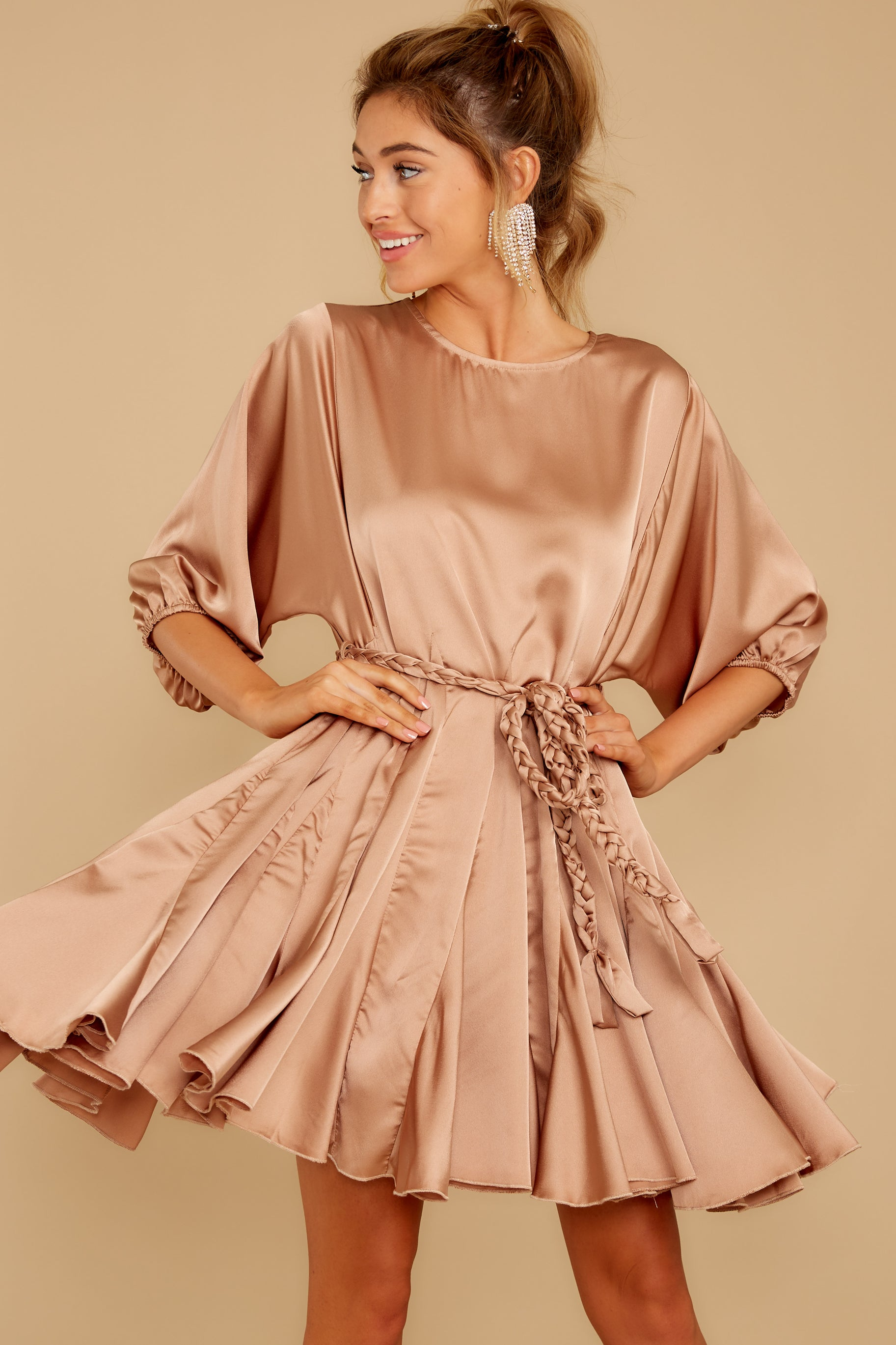 8 Kiss Goodnight Gold Champagne Dress at reddressboutique.com