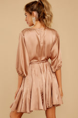 9 Kiss Goodnight Gold Champagne Dress at reddressboutique.com