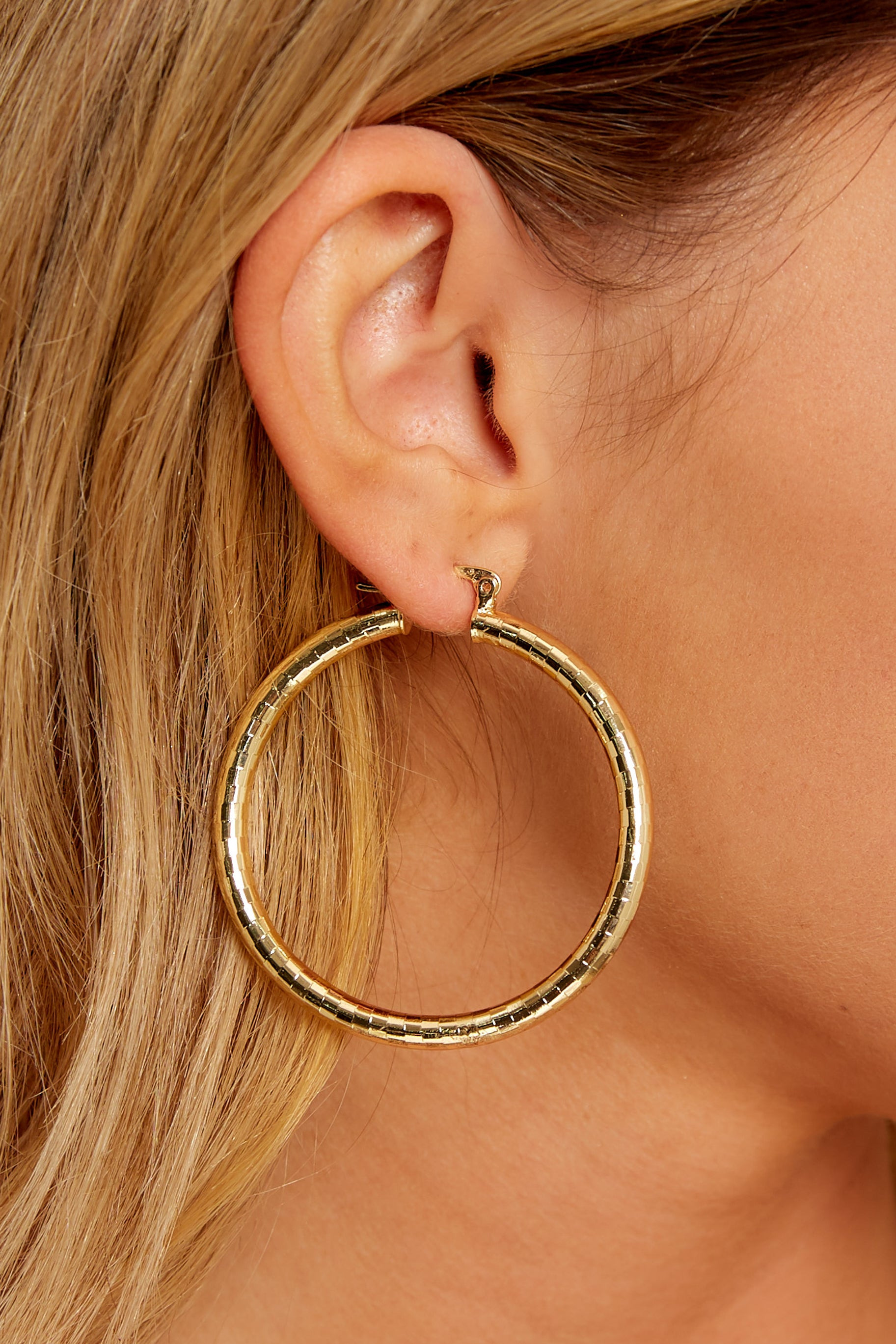 Miranda Gold Hoop Earrings