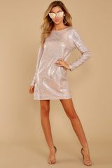 4 Sweet Feeling Pink Sequin Dress at reddressboutique.com