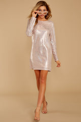 5 Sweet Feeling Pink Sequin Dress at reddressboutique.com