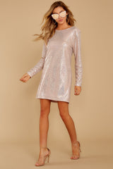 2 Sweet Feeling Pink Sequin Dress at reddressboutique.com