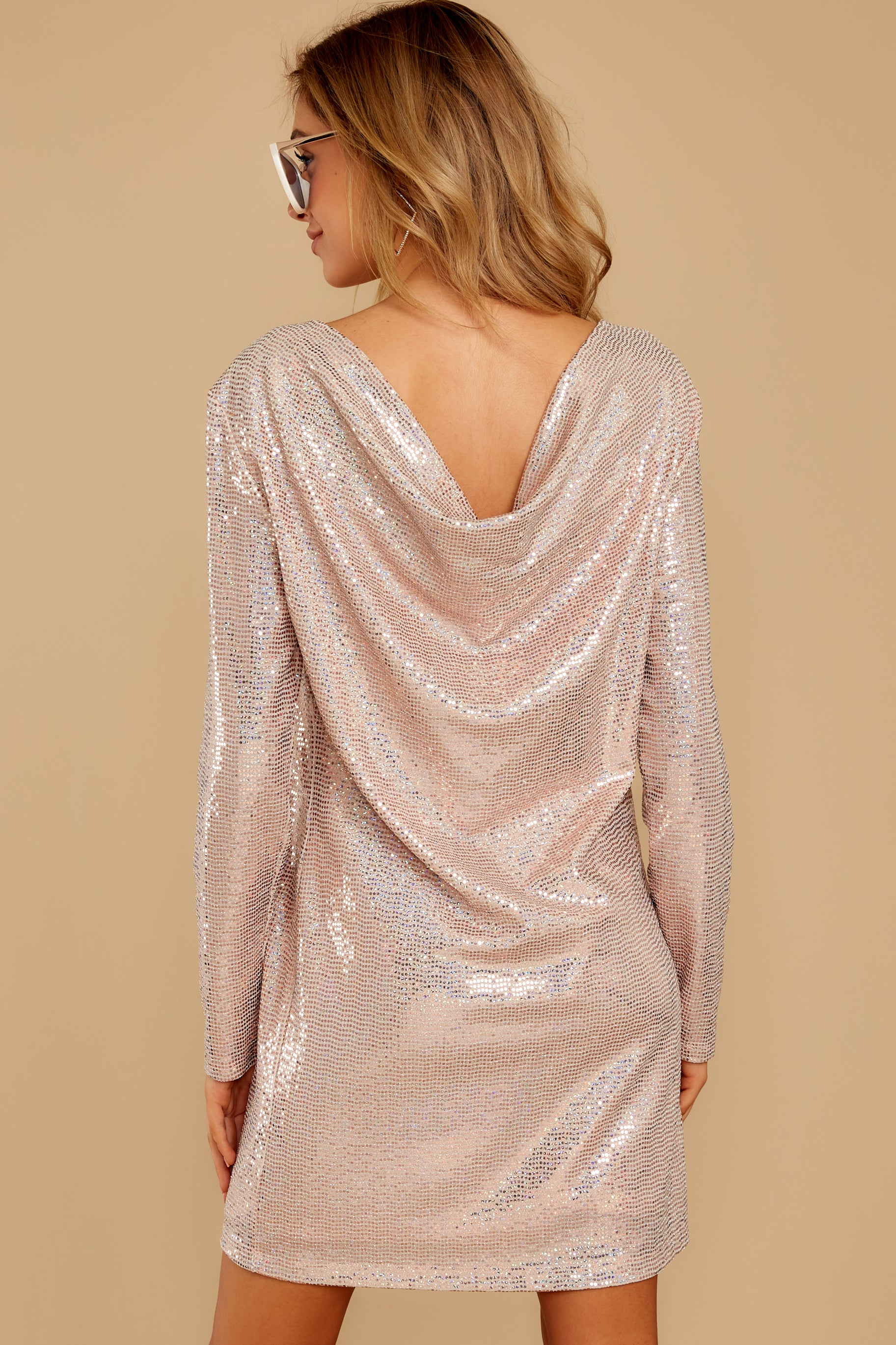 8 Sweet Feeling Pink Sequin Dress at reddressboutique.com