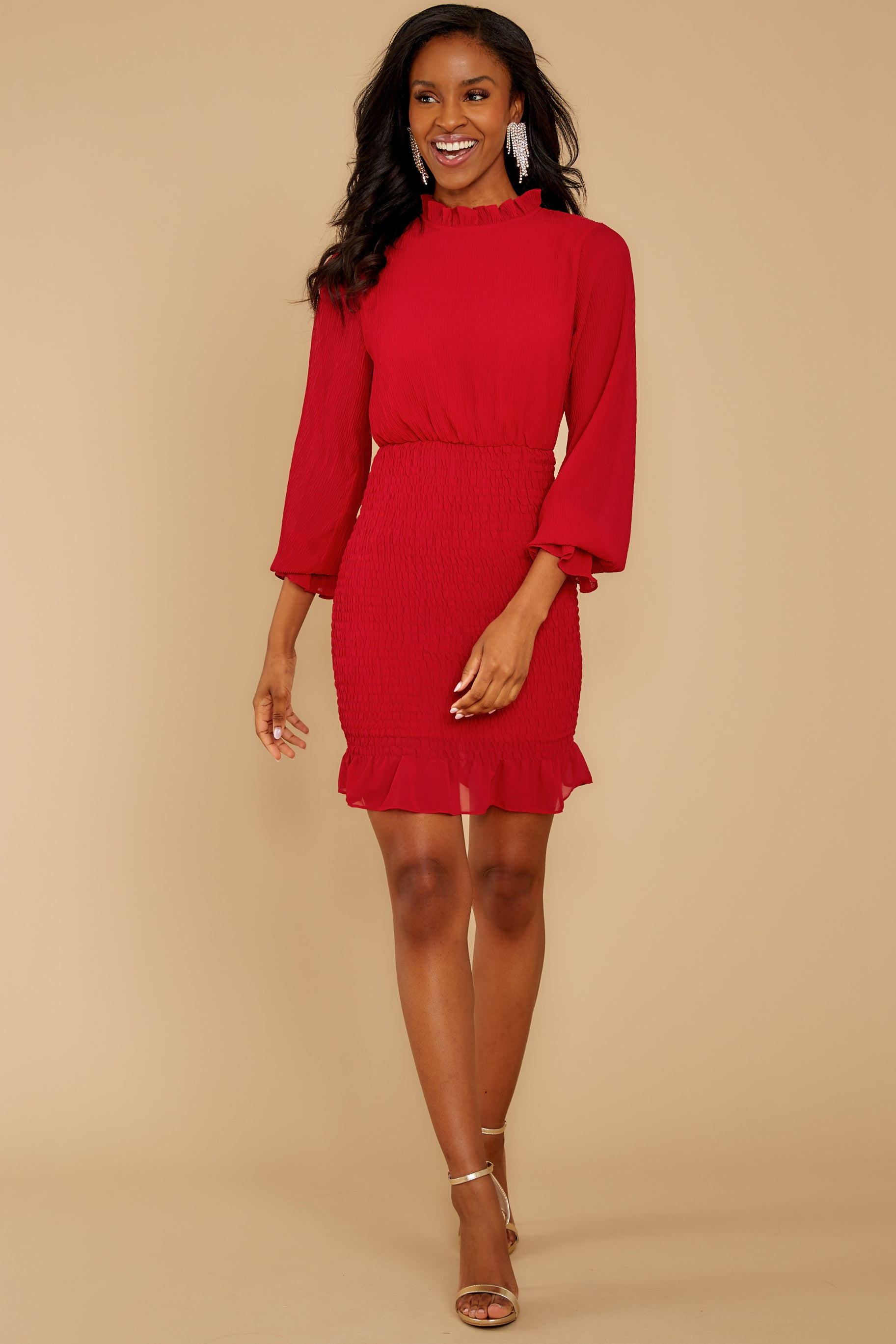 1 Lasting Impression Red Dress at reddressboutique.com