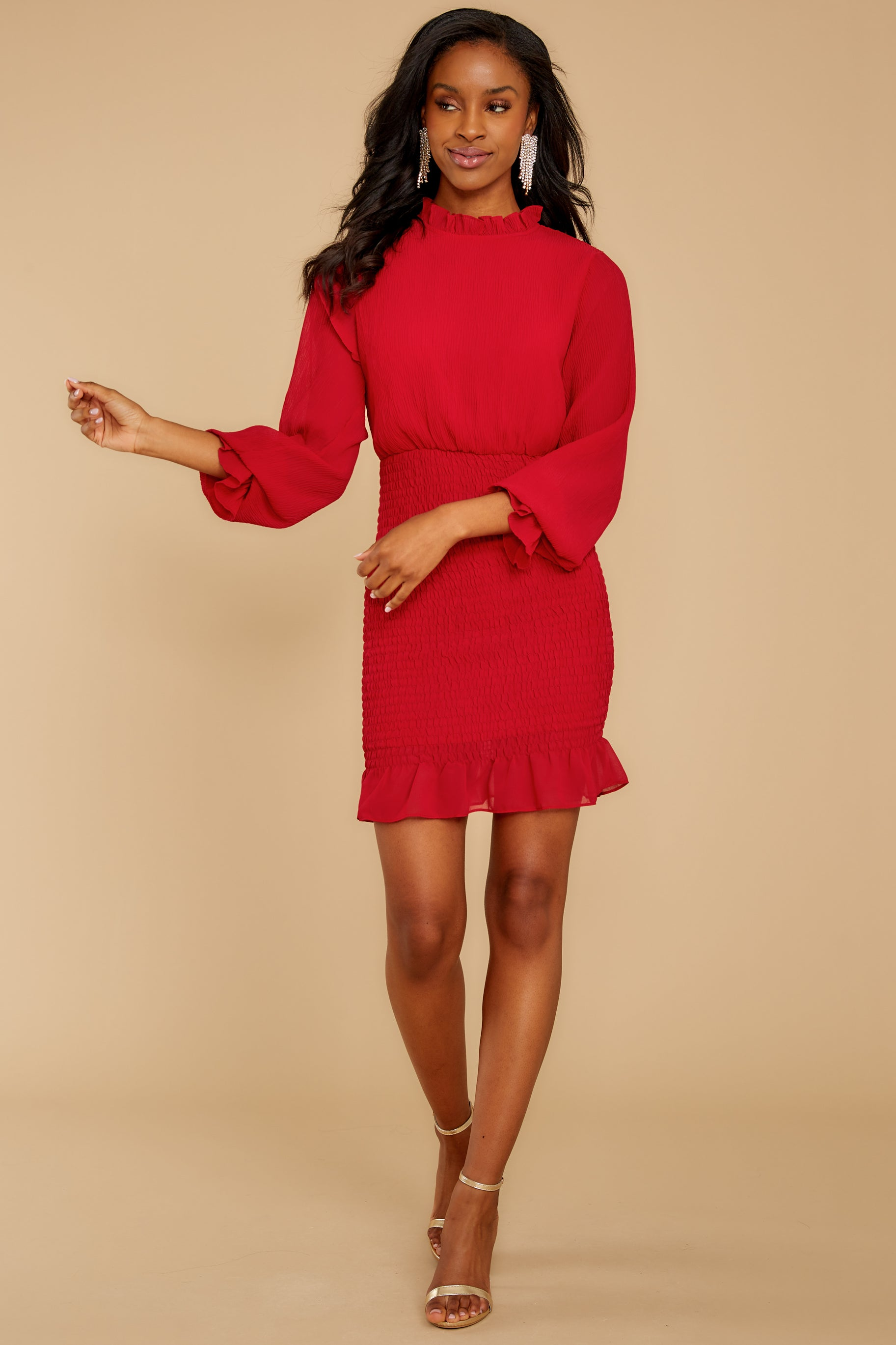 2 Lasting Impression Red Dress at reddressboutique.com
