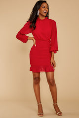 3 Lasting Impression Red Dress at reddressboutique.com