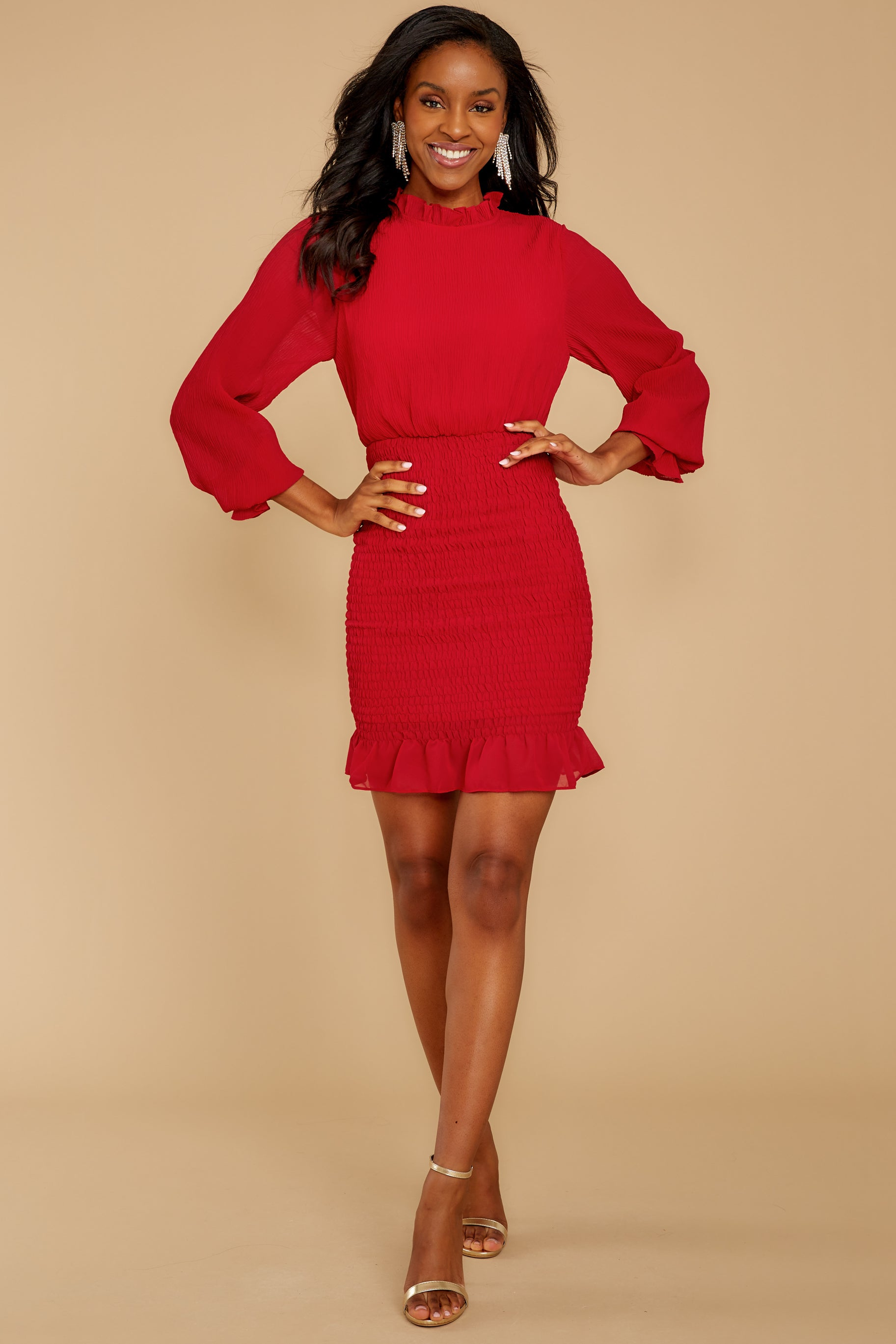 5 Lasting Impression Red Dress at reddressboutique.com