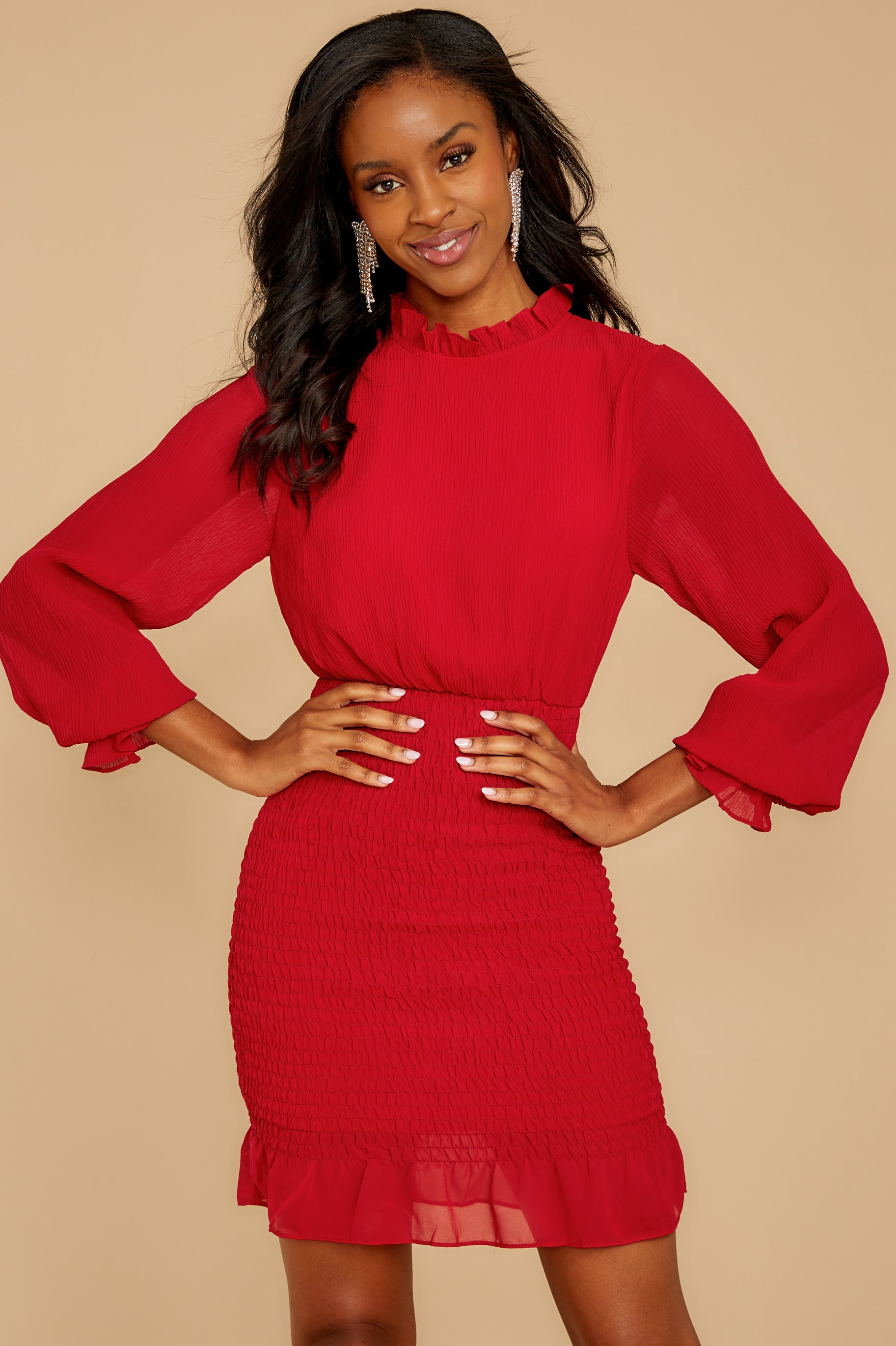 6 Lasting Impression Red Dress at reddressboutique.com