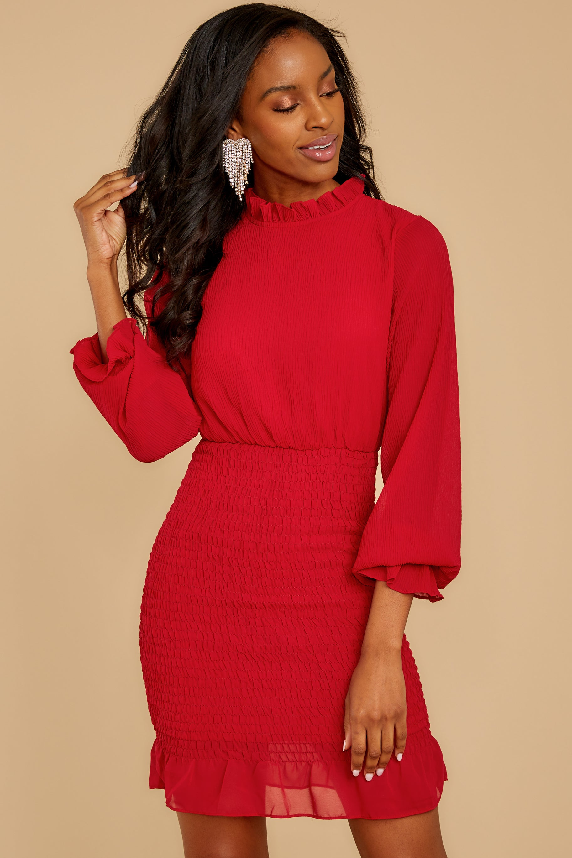 8 Lasting Impression Red Dress at reddressboutique.com