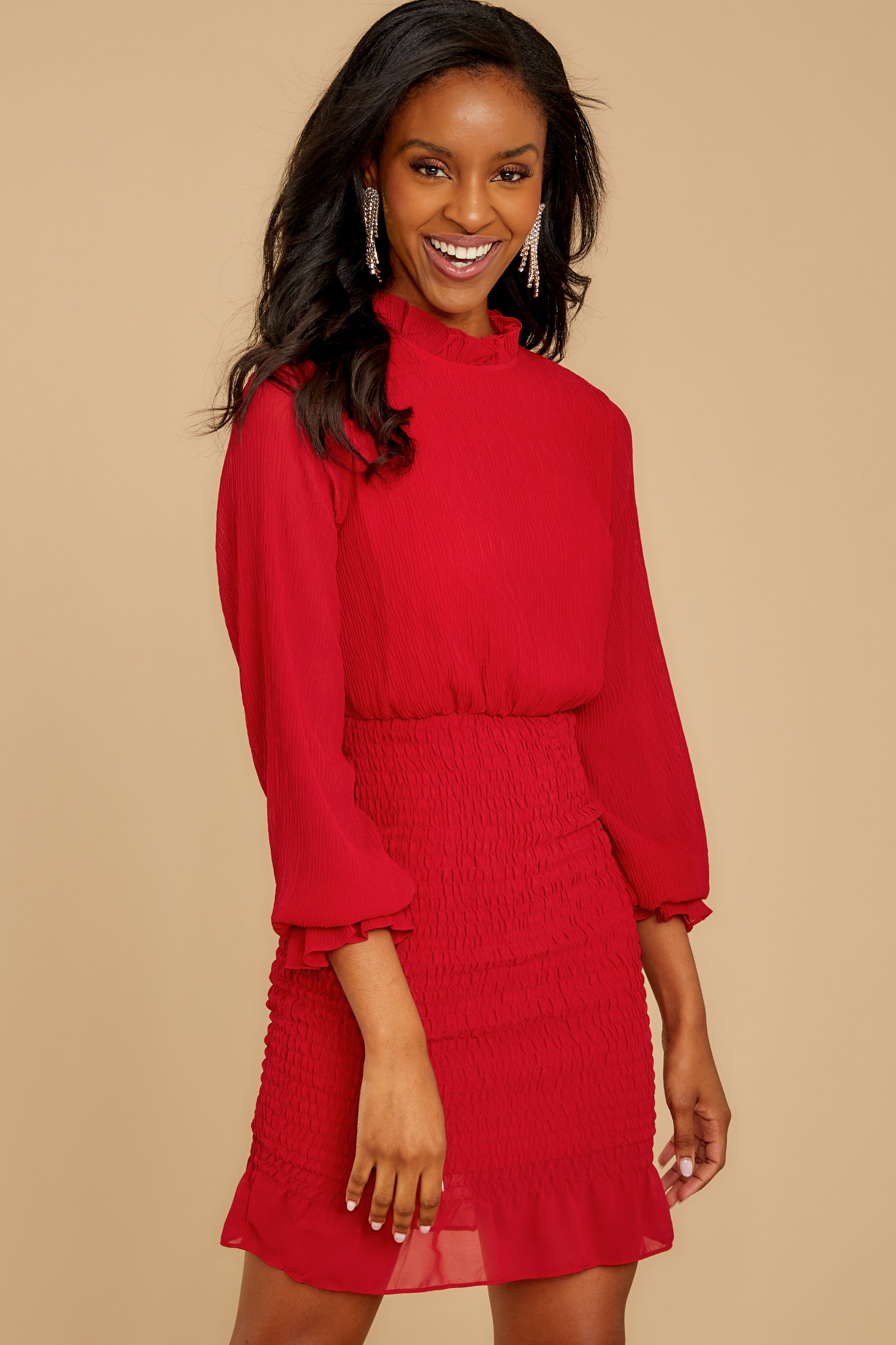 9 Lasting Impression Red Dress at reddressboutique.com