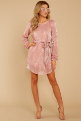 4 Raise A Glass Rose Pink Sequin Dress at reddressboutique.com