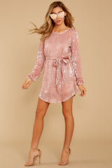 1 Raise A Glass Rose Pink Sequin Dress at reddressboutique.com