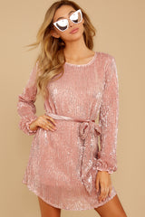 5 Raise A Glass Rose Pink Sequin Dress at reddressboutique.com