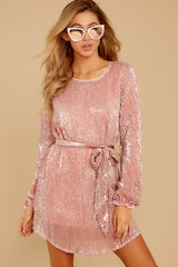 6 Raise A Glass Rose Pink Sequin Dress at reddressboutique.com