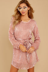 7 Raise A Glass Rose Pink Sequin Dress at reddressboutique.com