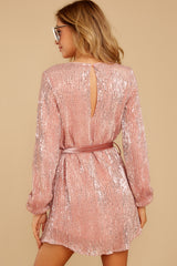 9 Raise A Glass Rose Pink Sequin Dress at reddressboutique.com