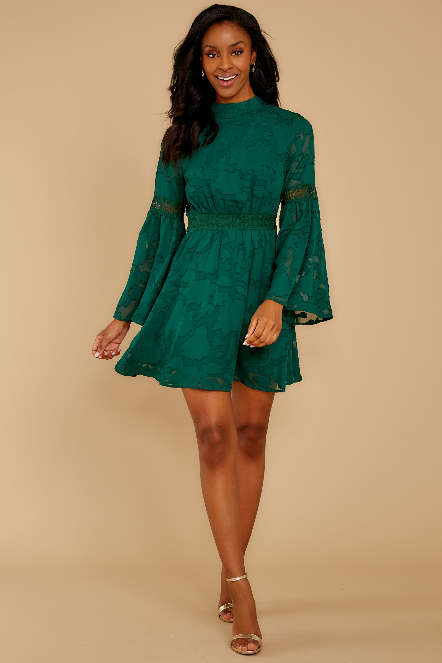 1 Love You More Emerald Green Lace Dress at reddressboutique.com