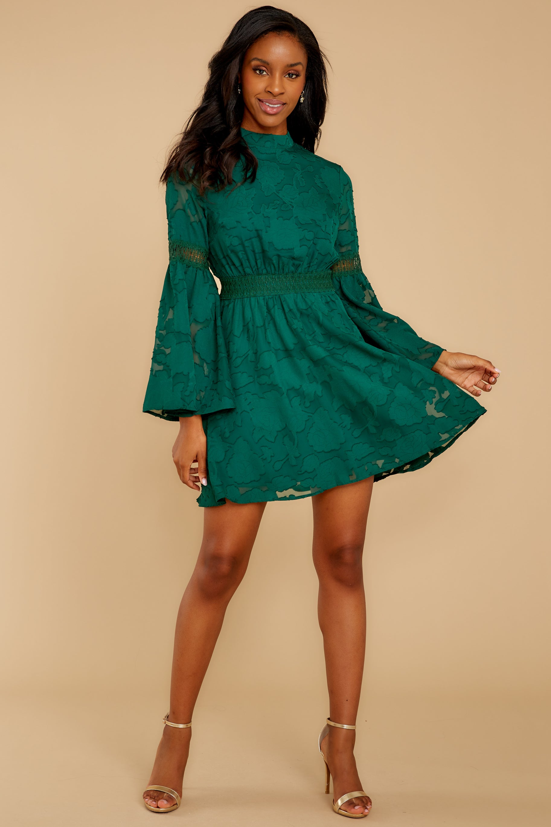 2 Love You More Emerald Green Lace Dress at reddressboutique.com