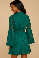 8 Love You More Emerald Green Lace Dress at reddressboutique.com