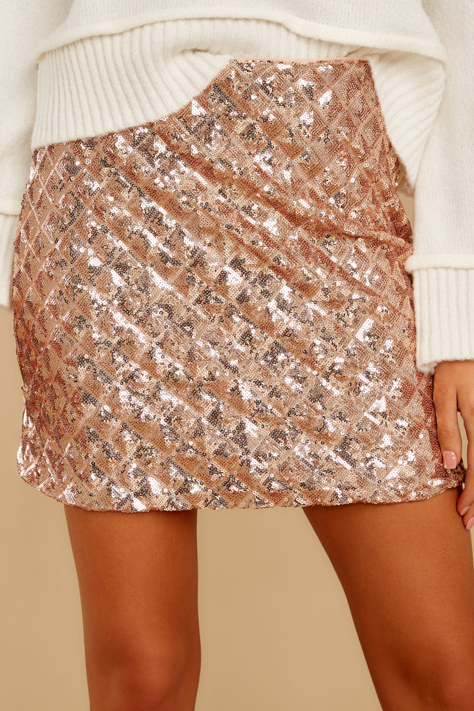 1 In The Spirit Ivory And Silver Sequin Skirt at reddressboutique.com
