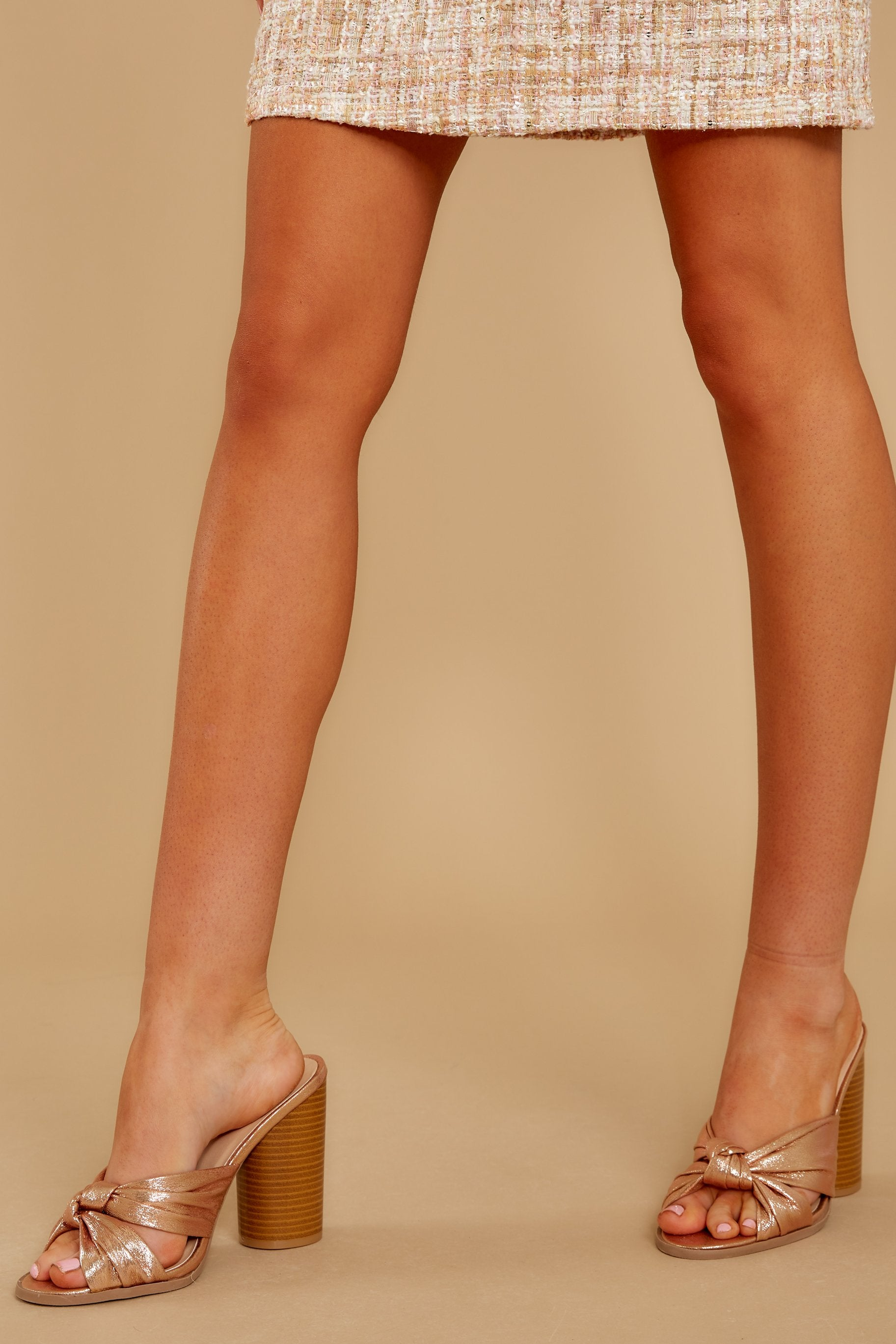 1 Dancing The Night Away Rose Gold Heels at reddressboutique.com