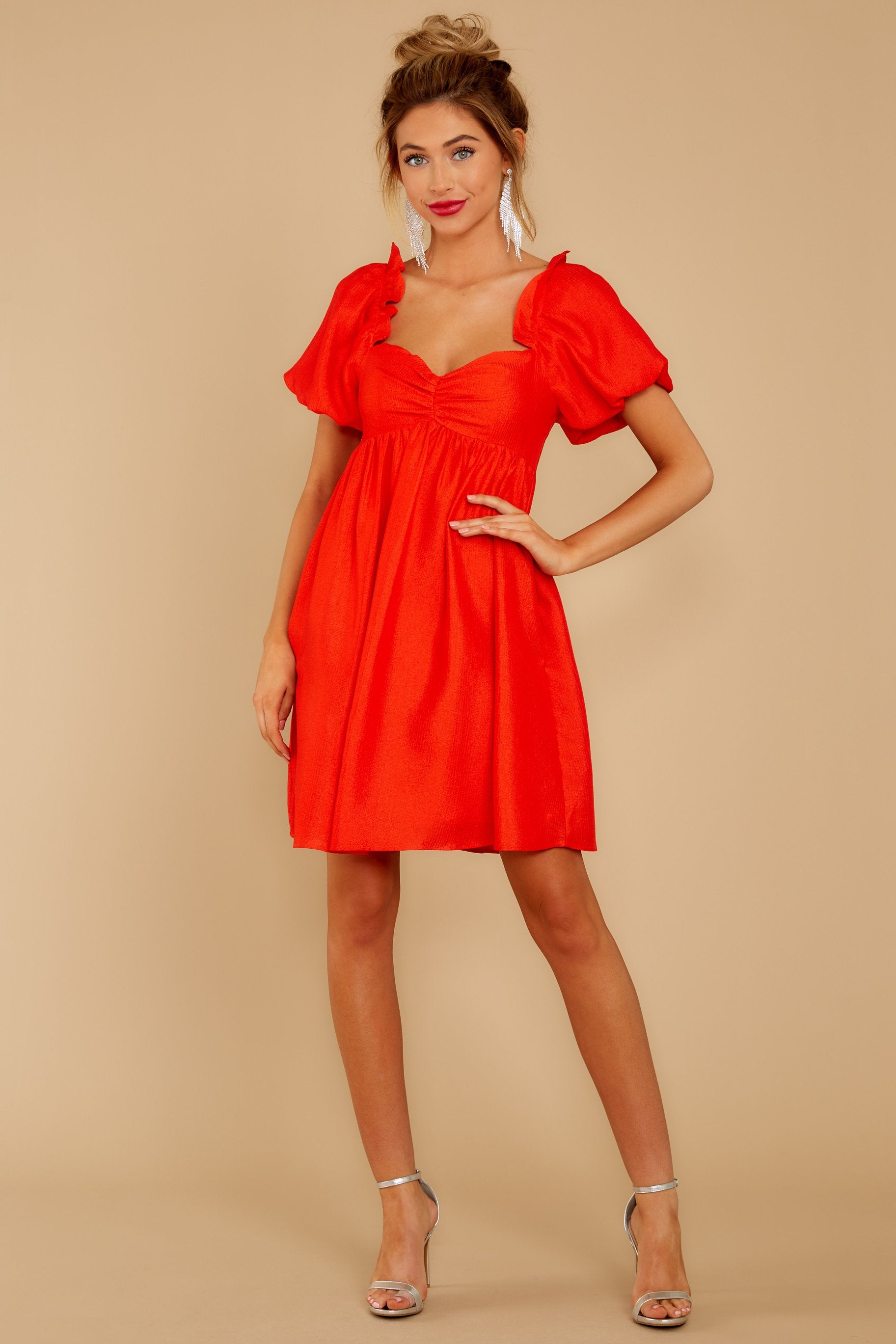 3 Keep On Wishing Red Dress at reddressboutique.com