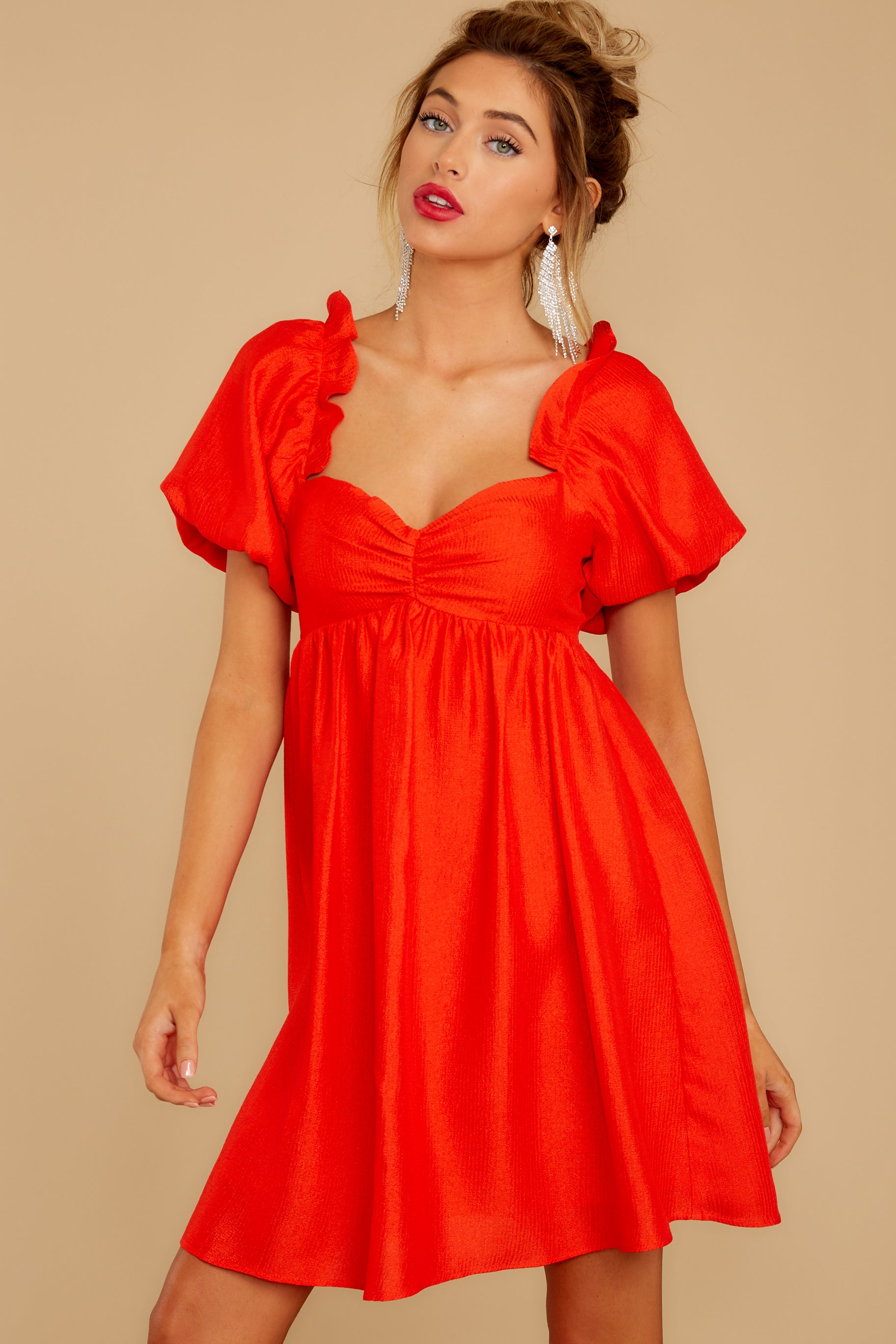 7 Keep On Wishing Red Dress at reddressboutique.com