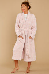 1 CozyChic® Heathered Dusty Rose Adult Robe at reddressboutique.com