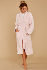 3 CozyChic® Heathered Dusty Rose Adult Robe at reddressboutique.com