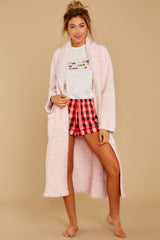 6 CozyChic® Heathered Dusty Rose Adult Robe at reddressboutique.com