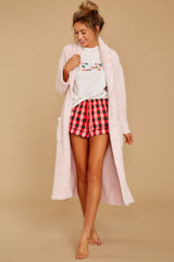 2 CozyChic® Heathered Dusty Rose Adult Robe at reddressboutique.com