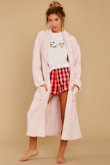 7 CozyChic® Heathered Dusty Rose Adult Robe at reddressboutique.com