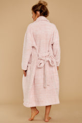 8 CozyChic® Heathered Dusty Rose Adult Robe at reddressboutique.com
