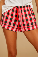 1 Buffalo Plaid Leisure Short at reddressboutique.com