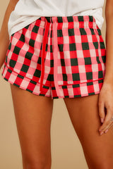 5 Buffalo Plaid Leisure Short at reddressboutique.com