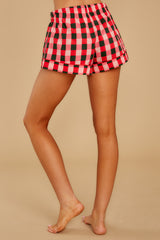 3 Buffalo Plaid Leisure Short at reddressboutique.com