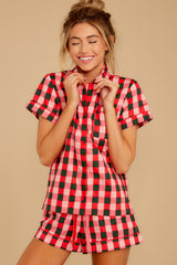 2 Buffalo Plaid Leisure Shirt at reddressboutique.com