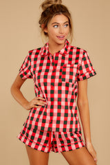 4 Buffalo Plaid Leisure Shirt at reddressboutique.com