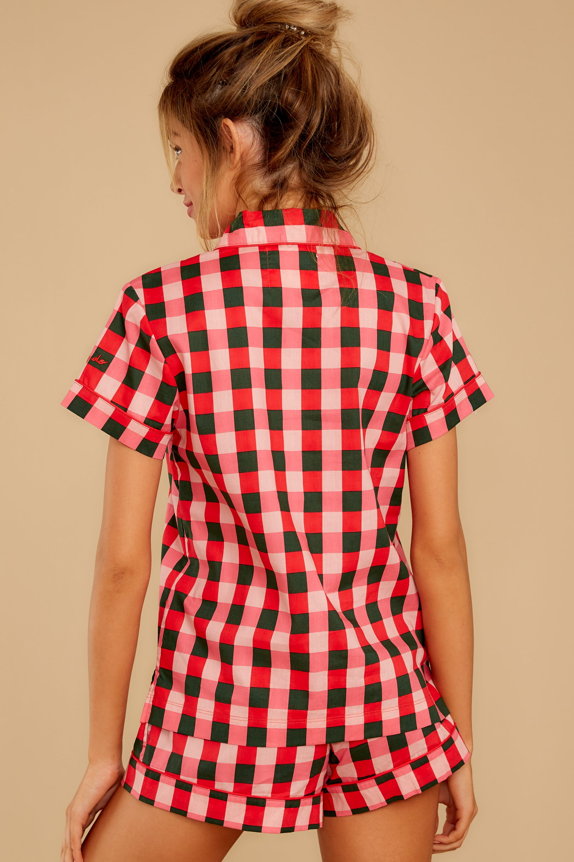 7 Buffalo Plaid Leisure Shirt at reddressboutique.com