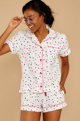 5 Party Dots Leisure Shirt at reddressboutique.com