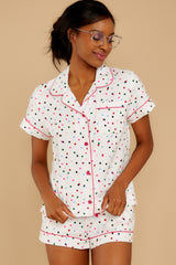 7 Party Dots Leisure Shirt at reddressboutique.com