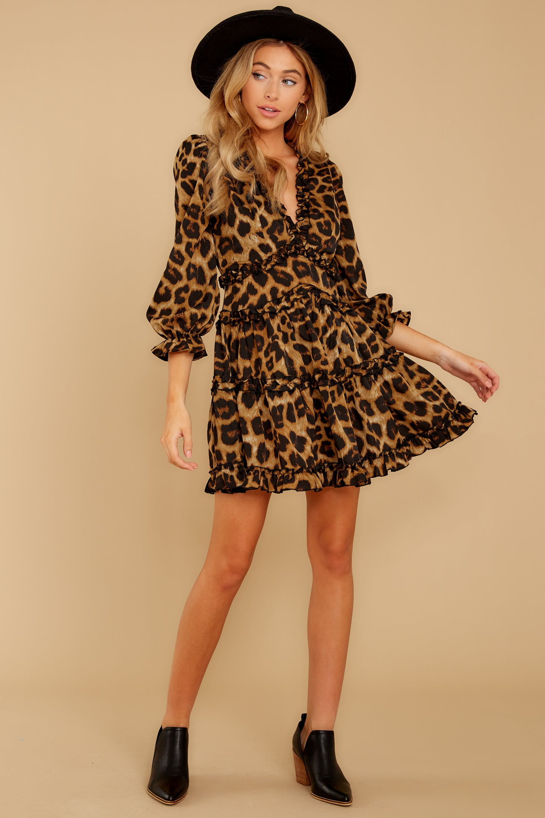 2 Love Is Automatic Brown Leopard Print Dress at reddressboutique.com
