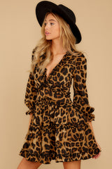 6 Love Is Automatic Brown Leopard Print Dress at reddressboutique.com